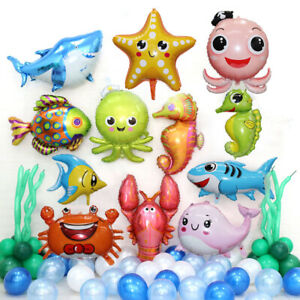 Sea Animal Foil Balloon Sea World Starfish Fish Kids Toy Birthday Party Decor O