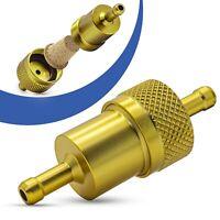 Universal Kraftstofffilter 7mm Aluminium Benzinfilter KFZ Auto Motorrad Gold