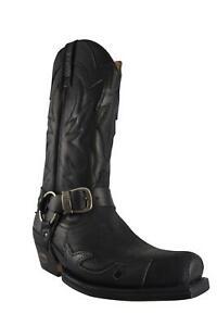 Loblan 2661 Medium Square Toe Black Waxy Leather Boots