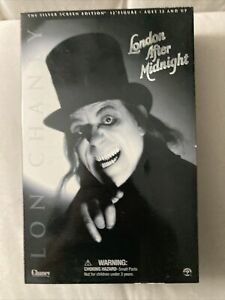 """Sideshow LON CHANEY 12"""" LONDON AFTER MIDNIGHT Figure B&W SILVER SCREEN EDITION"""