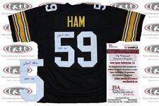 Jack Ham Signed Black Pittsburgh Custom Pro Style Jersey JSA Witnessed