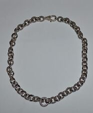 JUDITH RIPKA HEAVY STERLING SILVER CABLE CHAIN NECKLACE