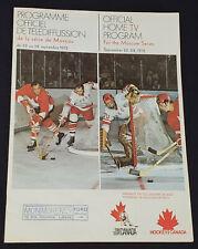1972 - CANADA vs RUSSIA - SUPER SERIES - OFFICIAL HOME TV - PROGRAM ORIGINAL