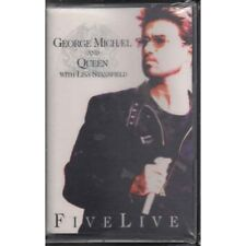George Michael And Queen With Lisa Stansfield ‎MC7 Five Live 0077778941842