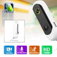 1080P HD Wire-Free WIFI Security IP Camera Rechargeable Battery PIR Night Vision