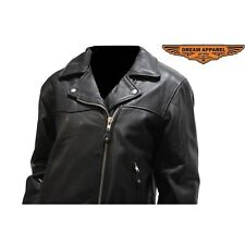 Womens Leather Motorcycle Jacket #LJ709-09