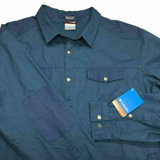 Columbia Hyland Woods Shirt Jacket 2XL Button UPF 50 Elbow Patch Mens NWT $110