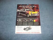 1957 Chevy Street Machine Franklin Mint Die-Cast Vintage Ad The Ultimate Hot Rod