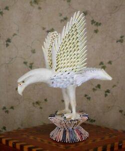 Origami Chinese Zhezhi Eagle Folded Paper  Folk / Prison Art Sculpture