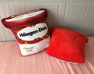 HAAGEN DAZS Classic Milk Ice Cream Tub Style Cotton Cushion 30CM Super Cool