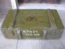 MILITARY VINTAGE WOOD AMMO BOX -antitank grenade(RPG) USSR