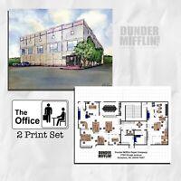 The Office Pam's Watercolor Painting Dunder Mifflin Floor Plan Scranton Gift Art