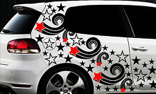 93 Sterne Star Auto Aufkleber Set Sticker Tuning Fee Stylin WandtattooTribel x