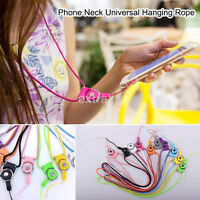 2PCS/Bag Detachable Cell Phone Mobile Neck Lanyard Strap ID Card Key Ring Holder