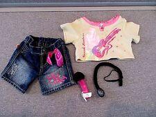 Build a Bear CLOTHES Hannah Montana Shirt Bling Jeans  Microphones Lot e10