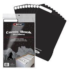 (25) BCW COMIC BOOK DIVIDERS - WRITE-ON FOLDABLE TAB - BLACK PLASTIC 1-CD-BLK
