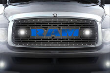 Custom Grille Kit RAM + LED Light + Blue Acrylic for 02-05 Dodge 1500/2500/3500