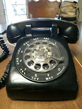 Vintage Black Rotary Dial Telephone Phone Western Electric Bell System