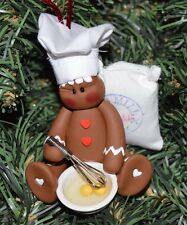 Polymer Clay Baking Gingerbread Christmas Ornament