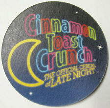 CINNAMON TOAST CRUNCH Official Cereal of LATE NIGHT, Coaster, Mat, GENERAL MILLS