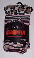 NWT CHILDREN'S PLACE LEOPARD KITTY TIGHTS 12 24 mo 2 TCP HALLOWEEN COSTUME 2 3