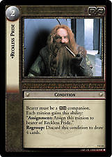 Lord of the Rings CCG Return of the King 7U13 Reckless Pride X2 LOTR TCG
