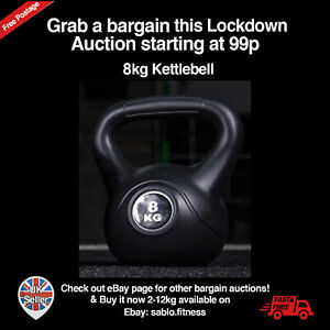 8KG Vinyl Kettlebell Gym Fitness/Strength Training! BRAND NEW! 99p Auction