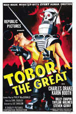 1954 Tobor The Great Vintage Sci-Fi Movie Poster Print Style A 54x36 9Mil Paper