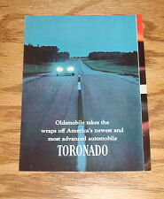 Original 1966 Oldsmobile Toronado Foldout Sales Brochure 66