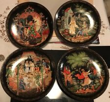 Bradford Exchange 4 Russian Plates Fairytales