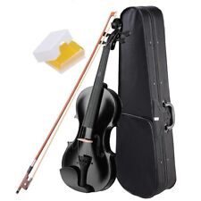Wooden Full Size 4/4 Violin Fiddle Natural Acoustic for Beginners Case Bow Rosin