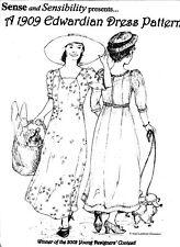 Ladies Sense and Sensibility 1909 Edwardian Dress Gown Sewing Pattern sizes 6-18