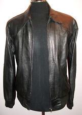 Real SOFT Leather JACKET Bomber M Medium Black Biker Blazer COAT KILIWATCH
