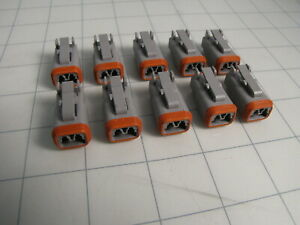 10-pack TE DT06-2S 2-Position Automotive Connector Housing 20AWG to 14AWG NEW