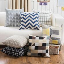 Geometric Wave Checker Triangle Pillow Covers Cushion Cases Decor for Sofa Car