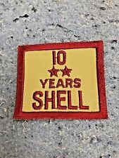 SHELL OIL GAS EMPLOYEE YEARS OF SERVICE PATCH NOS EMBLEM'S 10 Years Service