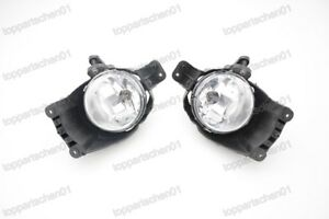 1Pair Clear Front Bumper Fog Lamps Driving Lights For Chevrolet Aveo 2011-2016