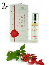 2 Pack Red Rose Concentrated Perfume Oil by Al Rehab 6ml Roll on