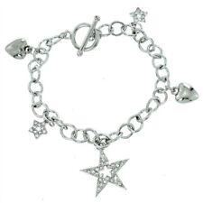 W Swarovski Crystal Star Heart Charm Cute Charming New Bracelet