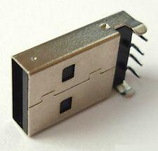 Connecteur à souder USB Male Type A - USB Male 4 pins 90° DIP solder connector