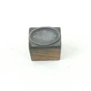 Vintage Printing Block / Crafting - Oval Shape 2cm