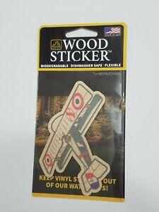 Custom Nieuport 17 Biplane Dust City Wood Sticker Use Outside or In