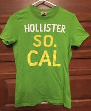 Hollister SO. CAL Surfer Cut Green T Shirt size Small