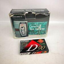 OPTIMUS VOX CTR-106 Voice Activation Cassette Recorder Cat 14-1111 Tested Tape