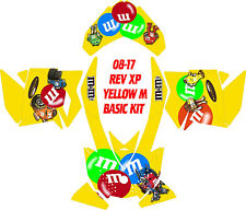 SKI DOO SNOWMOBILE WRAP REV,XP, XR,XS,XM MXZ  99-16 YELLOW M DECAL STICKER