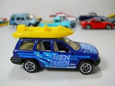 Matchbox Jeep Grand Cherokee with Raft Boat Action Canyon 1/64 Scale JC29