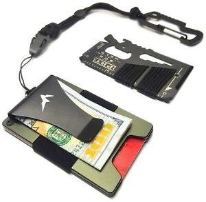 EDC Wallet Tactical Wallet/Credit Card Multitool RFID Blocking Minimalist Wallet
