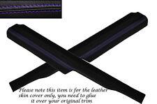 PURPLE STITCHING 2X REAR DOOR SILL TRIM SKIN COVERS FITS FORD SIERRA SAPPHIRE