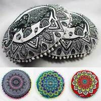 Large Mandala Floor Pillows Bohemian Meditation Cushion Cover Ottoman Pouf Decor