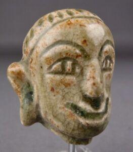 14-16thC SAWANKHALOK CERAMIC HEAD Clay Figure Thailand Thai Sculpture Buddha 4